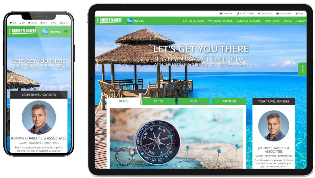 Cruise Planners Unveils Customizable Websites for its Travel Advisor Network